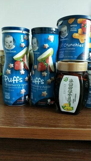 嘉宝Gerber 泡芙宝宝零食 婴幼儿辅食 星星泡芙三段 草莓苹果味(8个月以上) 42g美国进口 晒单图