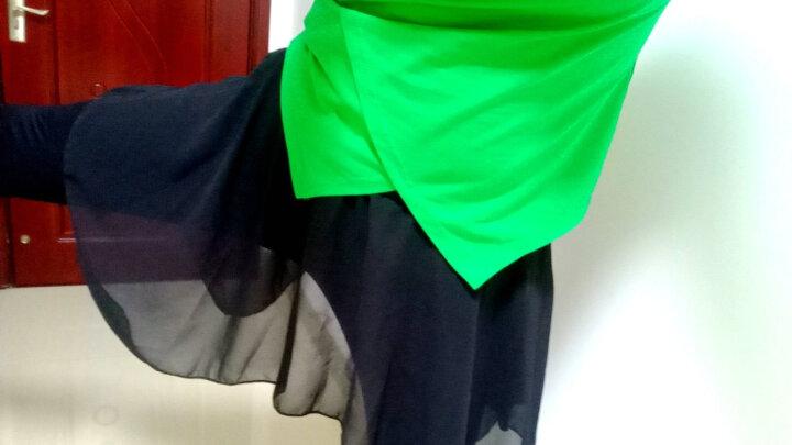 舞蹈裤成人女裤裙春秋黑色长裤松紧裤不规则雪纺纱裙训练打底裤瑜珈裤 XL码(身高170-175) 晒单图