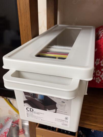 日本进口 可视光盘CD架 录像带DVD收纳箱整理带盖收纳盒 棕色--大号 晒单图