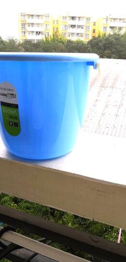 龙士达12L大号水桶 塑料加厚耐用清洁桶 大容量拖把桶泡脚桶洗澡桶 LJ-0159蓝色 晒单图