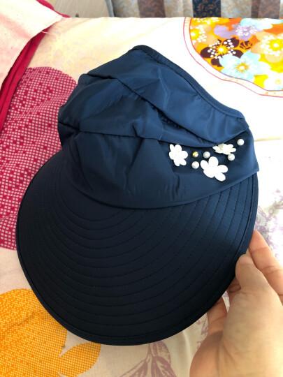 遮阳帽女士太阳帽防晒帽子夏天防紫外线户外骑行沙滩棒球帽韩版可折叠可调节大沿渔夫帽儿童 玫瑰红纯色款 晒单图
