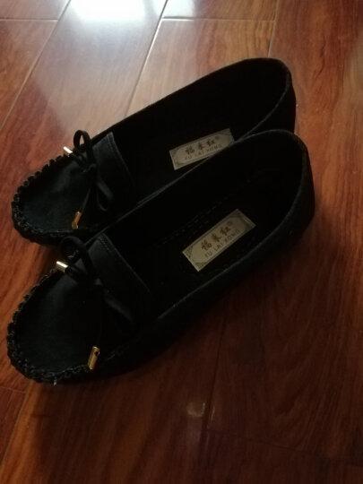 老北京布鞋女鞋豆豆鞋平底蝴蝶结单鞋百搭黑色工作鞋女休闲鞋妈妈鞋福来红官方上班鞋 灰色 38 晒单图