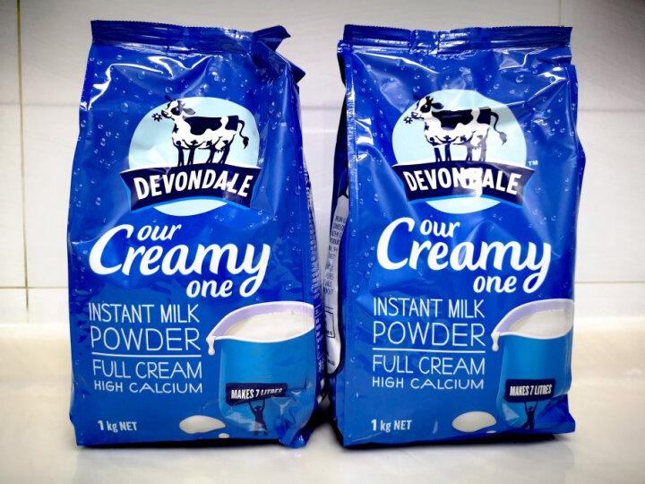 德运 (Devondale) 澳大利亚原装进口脱脂乳奶粉 脱脂成人奶粉1kg 新年年货礼盒 晒单图