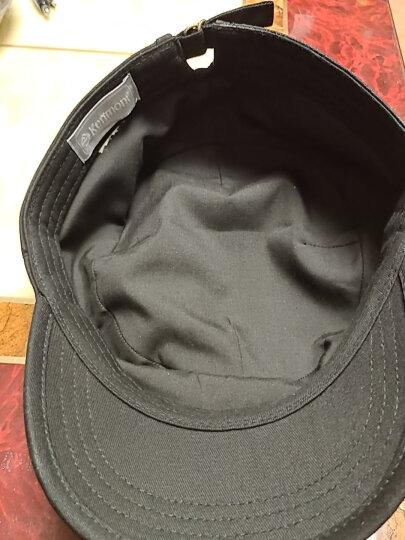 卡蒙(kenmont)户外帽子男夏季棉帽子休闲鸭舌帽春秋军帽英伦纯色平顶帽2528 黑色(全封款) 可调节 58.5cm 晒单图