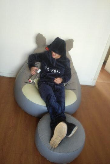 曼芙雅龙猫卡通植绒沙发充气沙发 懒人沙发家用卧室单人椅 休闲阳台懒人躺椅户外 单个植绒充气龙猫沙发 晒单图