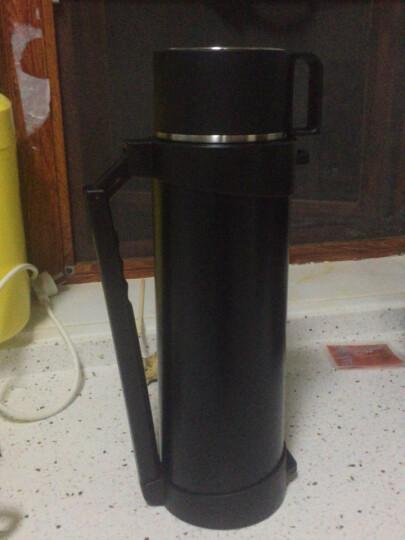 物生物(RELEA)保温壶 户外旅行壶不锈钢大容量保温瓶车载真空保温杯热水瓶水壶4L 行者黑色 晒单图
