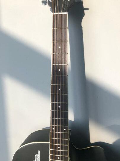 卢森(Rosen) 卢森Rosen吉他民谣木吉它40寸41寸初学者乐器guitar R-135黑色 41寸 晒单图
