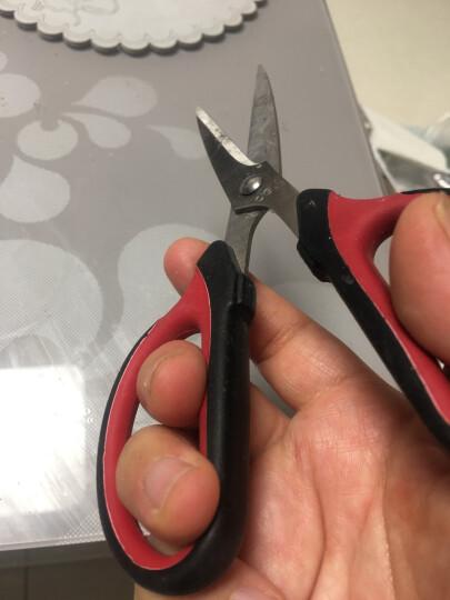 得力(deli)175mm中号不锈钢剪刀 家用办公美工剪子 黑色6027 晒单图