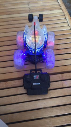 RONG LONG 遥控车玩具车遥控特技翻斗车充电摇控特技翻滚车四驱儿童玩具 方向盘款-旋风红 晒单图