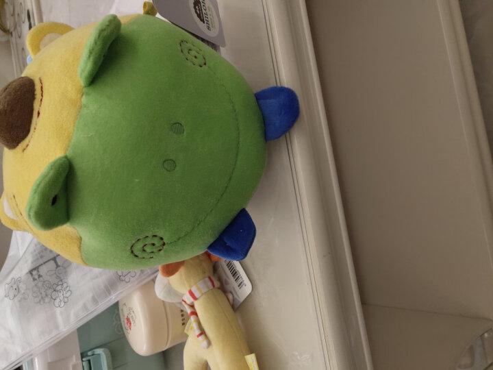 SHILOH 新生婴儿宝宝毛绒布艺摇铃床铃玩具 手抓球摇铃足球-蓝绿色系 晒单图
