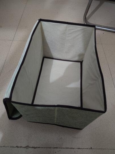 居家布艺折叠收纳箱可折叠多用衣物收纳箱便携无纺布防尘收纳盒 一大一小绿色 晒单图