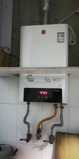 神州(SHENZHOU) HD7神州燃气热水器 家用强排智能变频恒温11L 一厨一卫 岩石白11L 天然气 晒单图