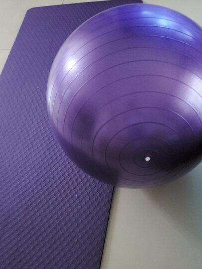 奥义瑜伽球 65cm加厚防滑健身球 专业防爆材质男女通用孕妇助产弹力球 赠全套充气装备 紫色 晒单图