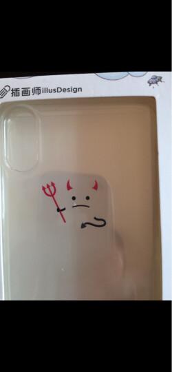 亿色(ESR) 苹果x/xs手机壳iPhonex/xs保护套 防摔透明硅胶壳潮 抖音同款个性图案  苹什么系列-小恶魔 晒单图