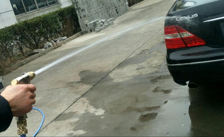 车旅伴(Car Buddy)高压洗车水枪 家用庭院清理水枪 全铜喷枪头套装 不含水管土豪金色 汽车用品HQ-C1302 晒单图