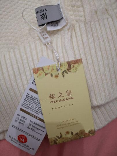 依之皇高领毛衣女冬季加厚短款修身针织打底衫紧身秋冬新款女士套头针织衫 橘色 170/XL 晒单图