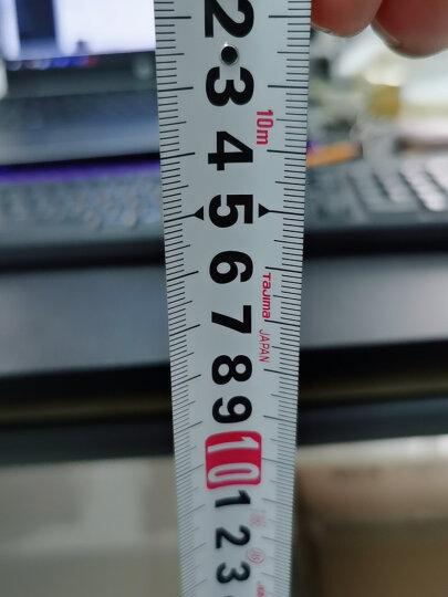 田岛(TaJIma)长10米钢卷尺盒尺米尺木工尺伸缩尺公制尺带正反面刻度25mm宽L25100 1001-0695 晒单图