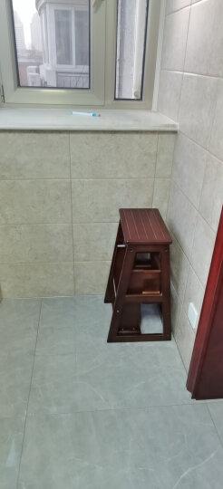 诺顿伯格全实木多功能三层楼梯凳阶梯凳两用折叠梯椅创意现代简约梯凳厨房折叠凳家用室内木梯子 晒单图