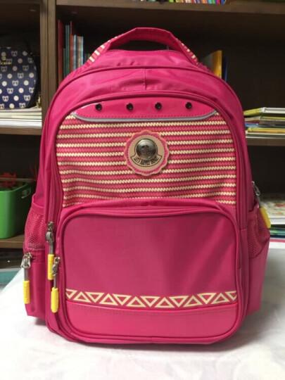 卡拉羊(Carany)小学生书包 1-3-6年级学生书包韩版可爱双肩背包CX2594玫红 晒单图