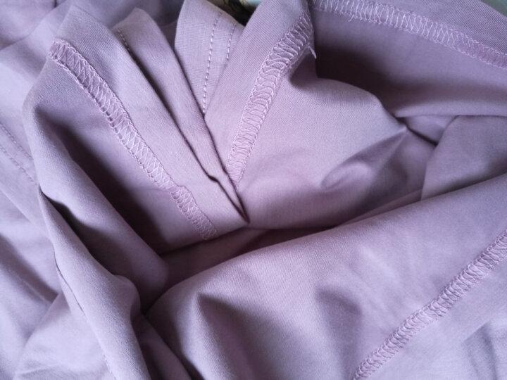 斯服玛sifuma 睡衣女夏季新品纯棉短袖套装休闲可爱卡通女士家居服可外穿秋夏季 W004豆沙紫 M 晒单图