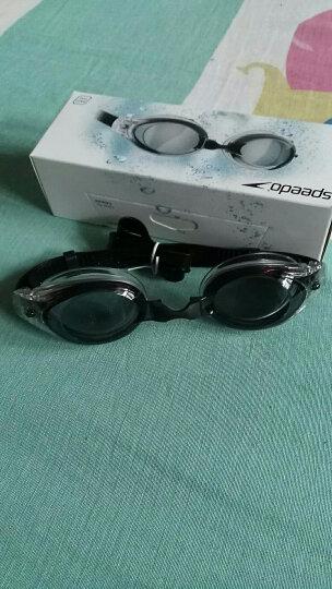 速比涛(Speedo) speedo 游泳眼镜 高清防雾防水游泳镜 男士女士泳镜 大框-湖水蓝 晒单图