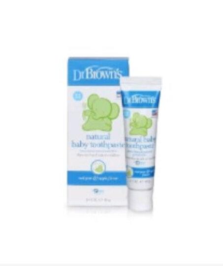 布朗博士(DrBrown's)美国进口 水果味儿童牙膏 无氟可吞咽可食 0-3岁 HG025 晒单图