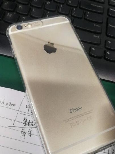 摩斯维 苹果6s手机壳iphone6/6s Plus保护套硅胶气囊防摔透明男女超薄款全包软壳个性 plus 5.5英寸-流沙黑【壳膜套装】 晒单图