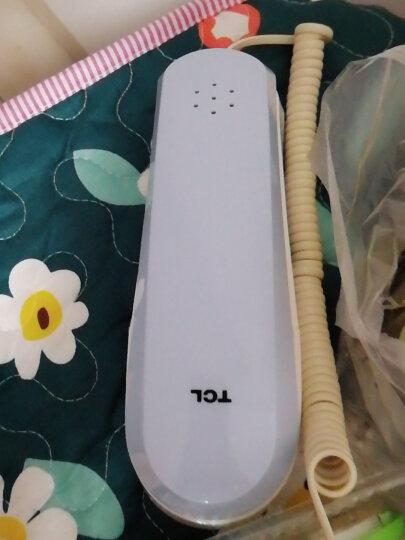 TCL电话机 9A 有绳家用电话面包机固定座机小挂机电梯卫生间厨房桌壁两用酒店铃声音量可调 9A冰湖蓝单机 晒单图
