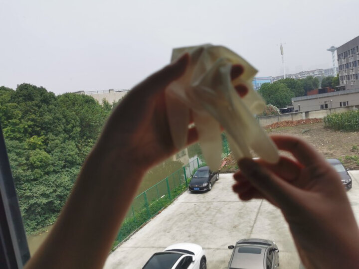 爱不释手 一次性手套食品级加长加厚丁腈晴乳橡胶医生检查实验室工业科研pvc手套男女 9寸透明PVC 100只/盒 M/中号 晒单图