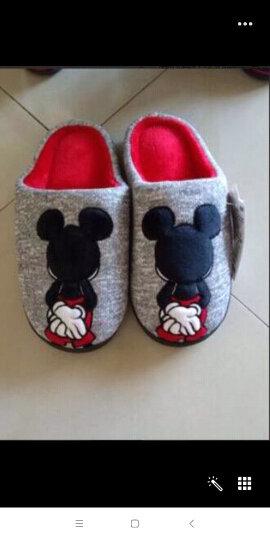 迪士尼(DISNEY) 儿童拖鞋男童女童棉拖鞋秋冬季保暖棉鞋 女童浅灰 31-32码脚长210mm 晒单图