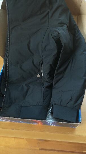 七匹狼羽绒服冬季男装新款款式休闲立领外套青年纯色保暖外衣 黑色(特别款) 180/96A/XXL 晒单图