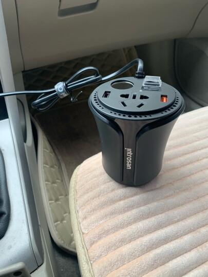 英才星HSC-108A 车载逆变器 车载充电器 车充点烟器 杯充一拖二12V转220V 3.1A双USB电源转换器 晒单图