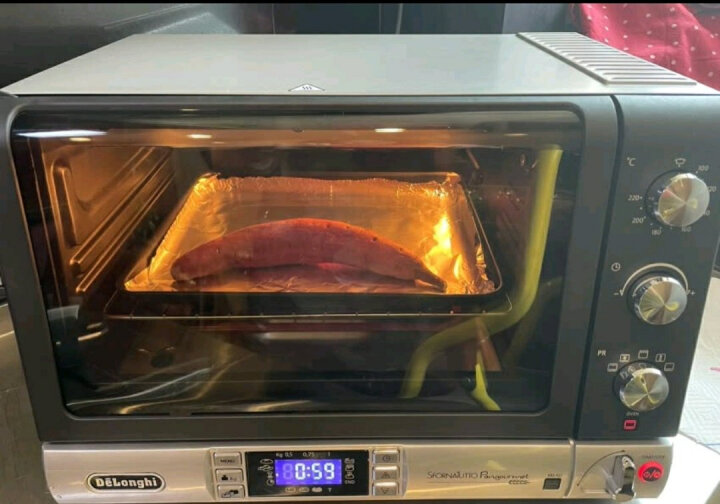 德龙(Delonghi)电烤箱 家用多功能烤箱(20L)双层玻璃门 烤箱面包机二合一 EOB20712 晒单图