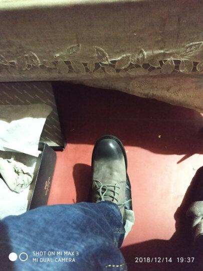 欧伦堡 男靴冬季男鞋高帮加绒保暖棉鞋头层牛皮鞋子男马丁靴子男士英伦时尚军靴雪地靴 不加绒黑色 40 晒单图