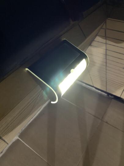 颖豪 太阳能灯壁灯led投光灯户外庭院灯人体感应花园灯家用走廊灯梯台灯防水外墙灯幕墙灯 晒单图