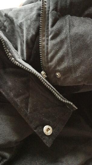衣典零一 2018秋冬装新款女装冬季女士羽绒棉马甲女短款女款连帽棉坎肩马夹背心外套 墨绿 L 晒单图