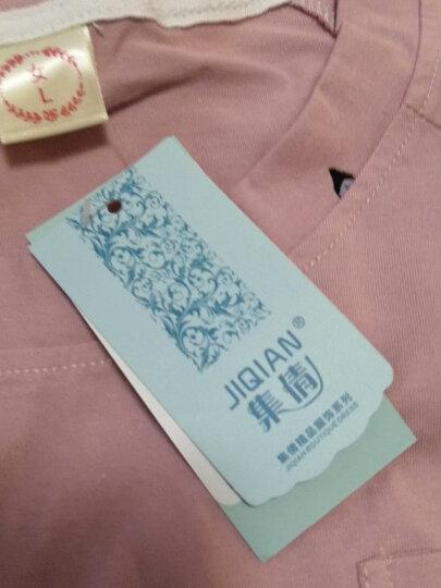 集倩(JIQIAN)睡衣女秋季长袖纯棉休闲韩版可爱减龄可外穿家居服套装 推荐TR3328 女L(100-120斤) 晒单图