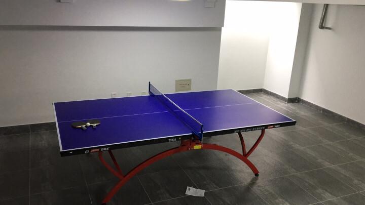 红双喜 T2828小彩虹乒乓球桌 家用室内可折叠移动兵乓球台 晒单图