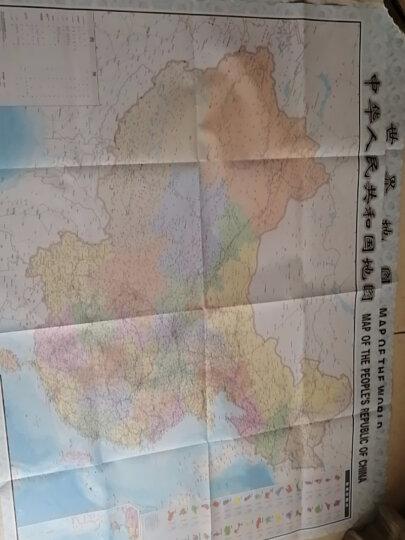 欧式复古地图:中国+世界地图挂图(1.1米*0.8米?仿古地图装饰画挂画?赠3M贴胶?套装2张) 晒单图