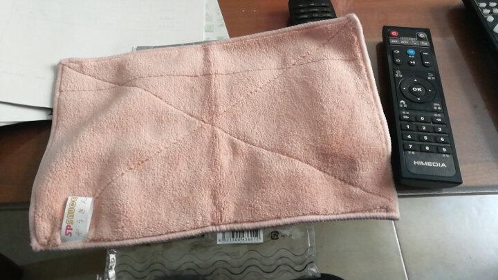 SP SAUCE 日本双层加厚地板清洁布抹布清洁巾擦手巾拖把替换布 粉色+米色30cm*19cm 晒单图
