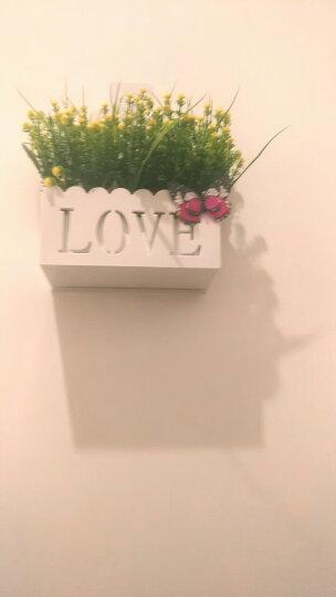 陨石灰 love挂墙花篮插花套装仿真花花盆花篮墙壁吊篮花卉挂壁挂假花节日摆设墙面装饰花艺 紫红满天星L挂篮 晒单图