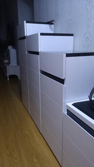 华纳斯(HUANASI) 华纳斯 鞋柜 储物玄关门厅柜 鞋架 黑白鞋柜(左高右低)+换鞋凳 晒单图