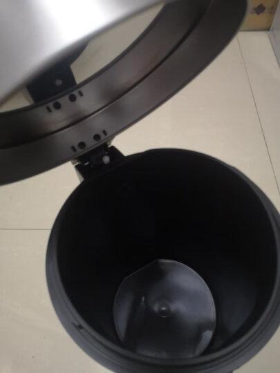 得力(deli)φ29.5cm大号金属网状圆纸篓 办公家用垃圾桶 垃圾分类 办公用品 黑色9189 晒单图