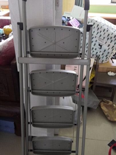 奥鹏 梯子家用 四步折叠梯子加厚钢管铁梯宽踏板人字梯单侧工程梯 AP1264 晒单图