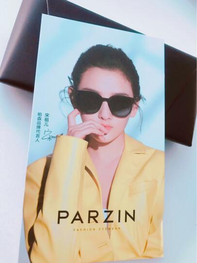 帕森(PARZIN)太阳镜男款偏光驾驶墨镜男士偏光眼镜8009 银框反光膜天蓝片 晒单图