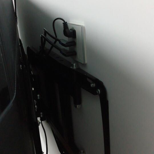 CABLE CREATION 弯头hdmi数字高清线2.0版视频线 4k连接线电视线 右弯 1.8米 晒单图