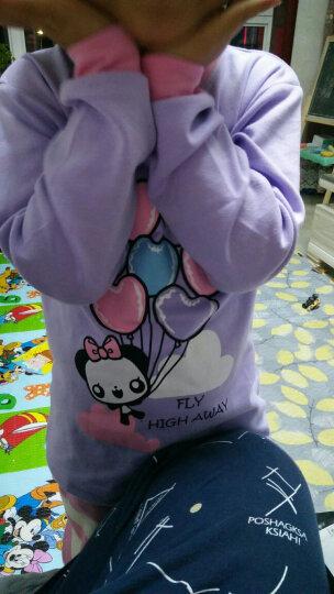 跃童莱1(YUETONGLAI) 男童女童纯棉长袖家居服儿童内衣套装宝宝秋衣秋裤 纯棉小神龙 120 晒单图