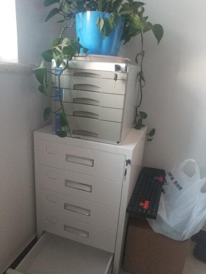 钱柜 五斗矮柜文件柜铁皮柜办公室抽屉柜储物柜带锁床头柜桌边柜子(可放打印机)(特制加厚带钱柜钢印) 晒单图