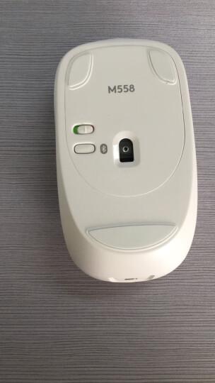 罗技(Logitech)M558(M557)多平台连接蓝牙无线鼠标 白色 晒单图
