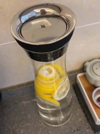WMF德国福腾宝凉水壶 大容量无铅玻璃夏季冷水壶 玻璃壶冰镇果汁瓶1L-可改链接 蓝色 晒单图